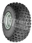 "18 x 9.50-8 Knobby Tire with Rim (Kenda Scorpion) (1"" Bore)"