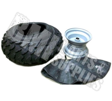 "16 x 8-7 Knobby Tire, Tube & Rim (1"" Bore)"