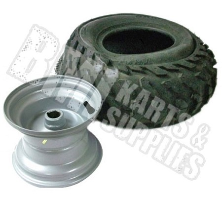 "---No Longer Available--- 16 x 8-7 Knobby Tire & Rim (1"" Bore)"