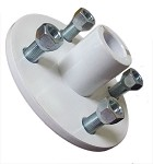 "White 4 x 4 Wheel Heavy Duty Hub (1"" Bore)"