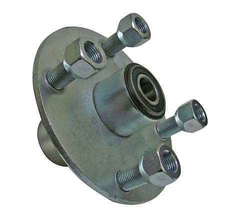 "4 x 4 Galvanized Wheel Hub (Front with 5/8"" Bearing)"