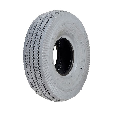 4.10x3.50-5 Pneumatic Mobility Gray Non-Marking Tire with Sawtooth Tread