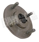 "Galvanized Wheel Hub with (4) 5/16"" Bolts on a 2-13/16"" Circle (1"" Bore)"