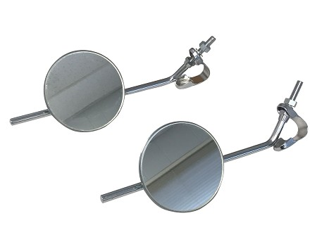 "4"" Round Universal Motorcycle Mirror with 8-1/2"" Stem"