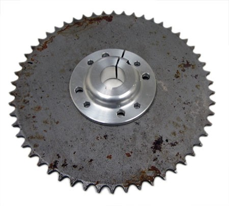 ---Out of Stock--- Multi-Patterned Aluminum Sprocket Hub with 54T #41 Sprocket