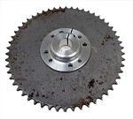 Multi-Patterned Aluminum Sprocket Hub with 54T #41 Sprocket