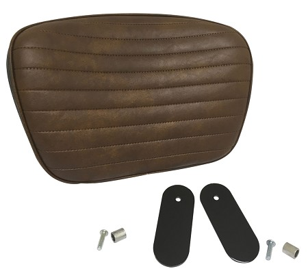 Backrest Seat Pad for Harley-Davidson Comfort Flex Seat (Brown)