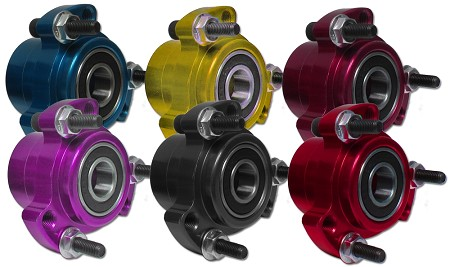 "Colored Aluminum Racing Wheel Hub (Front with 5/8"" Bearings)"