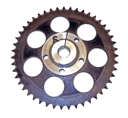 "5 Bolt Hole Sprocket Hub (1"" Bore)  with #530 Sprocket - 45T, 47T, 49T, or 51T"
