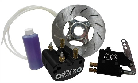 "1"" or 1 1/4"" Hydraulic Brake Kit - Black"