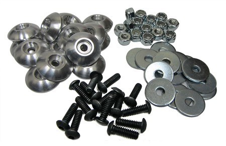 ---Out of Stock--- Aluminum Washer Kart Body Mounting Kit
