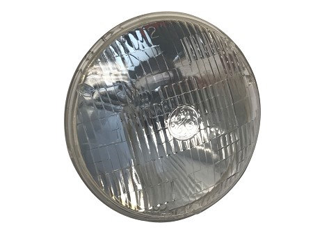 "7"" 6-Volt Sealed Beam Glass Headlight (GE)"