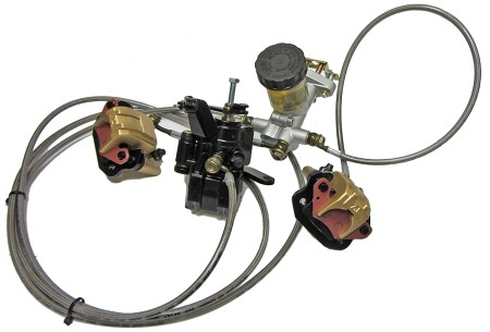 Hydraulic Brake Caliper & Master Cylinder Kit (Front & Rear)