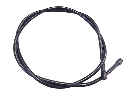 Black Braided Brake Line - 52''