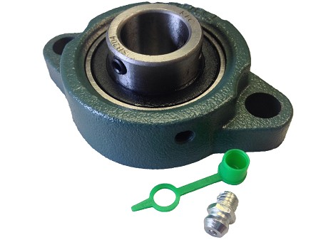 "Cast Iron Pillow Block with 3/4"" Bearing & Grease Zerk"