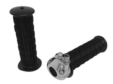"7/8"" Metal Throttle Assembly with Waffle Grips - 5-1/4"" Long"