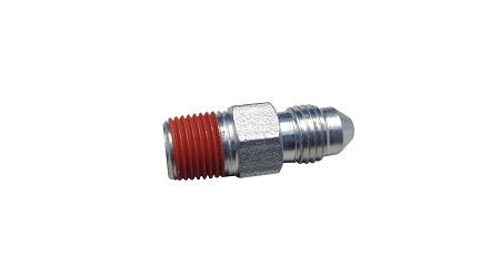 Steel Brake Fitting with Thread Locker - #3 JIC to 1/8 NPT