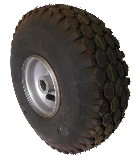 "4.10/3.50 -4 Tire with Rim (3/4"" Bore) (Off Returned Kart)"