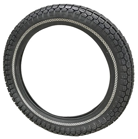 Checkered Sports Whitewall Million 3.00-18 Motorcycle Tire
