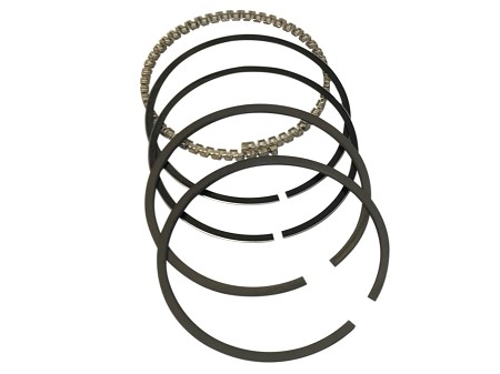 "Piston Ring Set with Chrome Top Ring For Harley-Davidson 74"" & 80"" FLH (1955+)"