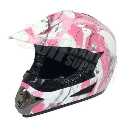 Off Road Youth Helmet (Army Pink)