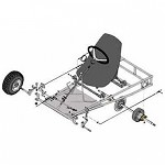 "Azusa Go Kart Kit with 6"" Aluminum Wheels (AZ3552)"