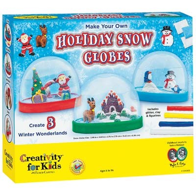 ---Out of Stock--- Creativity for Kids (Make Your Own Holiday Snow Globes Activity Kit)