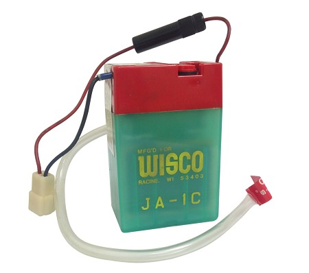 wisco ja 1c scooter moped battery 6v 2a ja 1c bmi karts and motorcycle parts