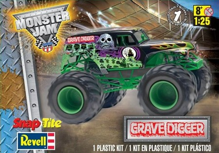 Grave Digger Monster Truck (1/25 Scale) SnapTite from Revell Models #851978