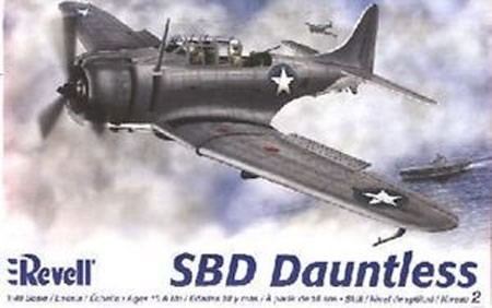 SBD Dauntless (1/48 Scale) WWII Airplane from Revell Models #855249