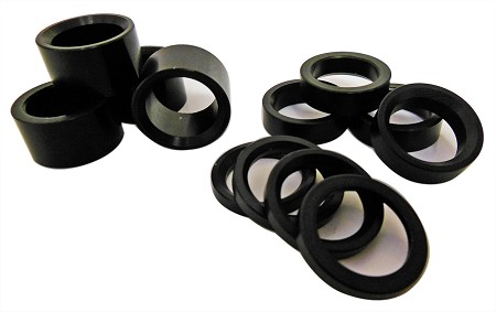 "Assorted 5/8"" Aluminum Wheel / Spindle Spacer Kit"