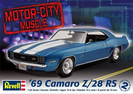 69 Chevy Camaro Z28 Rs 1 25 Scale Sports Car From Revell Models