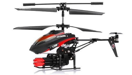 ---No Longer Available--- WLToys V398 Missile Launching 3.5CH RC Helicopter RTF with Six Missiles