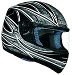 Black Graphic Vega Trak Karting Helmet