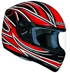 Red Graphic Vega Trak Karting Helmet