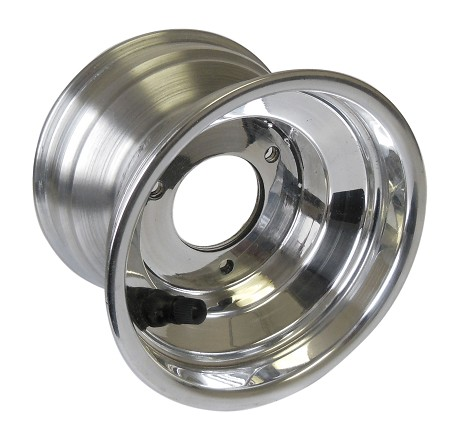 "VanK 5"" x 3-1/2"" Polished Aluminum Wheel"