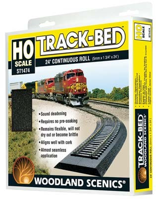 Woodland Scenics' Track Road Bed 24ft Roll (HO Scale) #ST1474