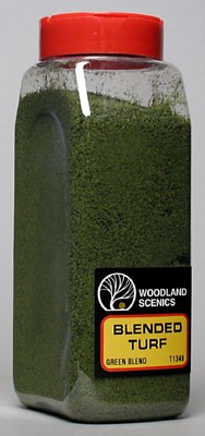 Woodland Scenics' Turf Fine Blended Green (32 oz) #T1349
