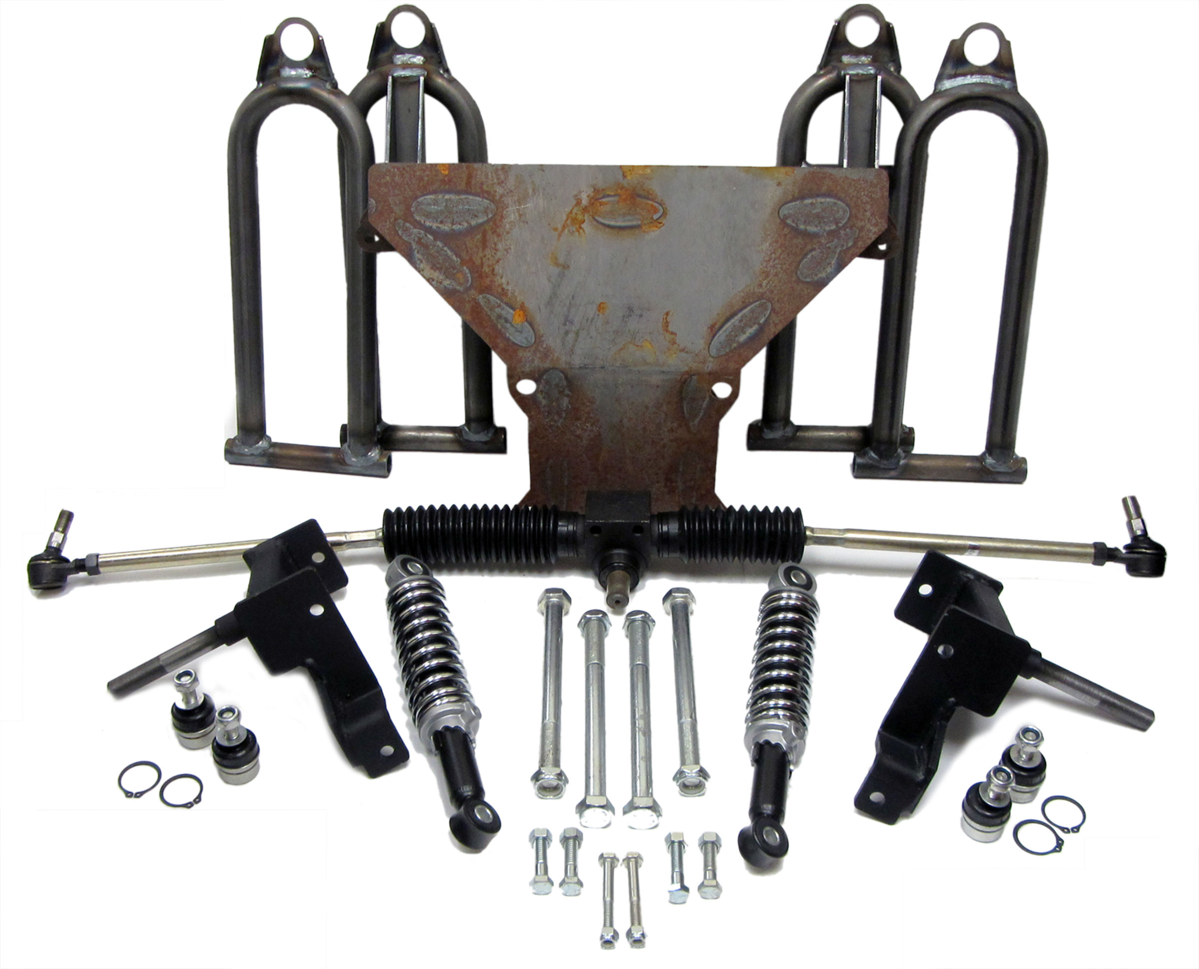 Complete Front End With Spindles For Yerf Dog Designed 5 8 Rear Swingarm Diagram And Parts List Manco Gokartminibikeparts Zoom