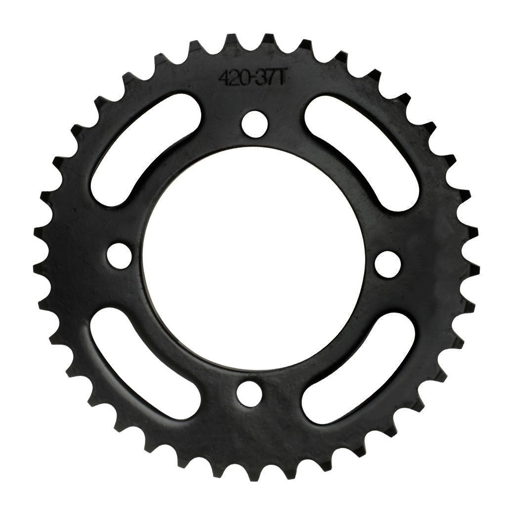 #420 - 37T Rear Sprocket for Chinese ATV's - 76mm Center Hole |  1243-RS420-37-14076 | 1243-RS420-37-14076 | BMI Karts And Parts