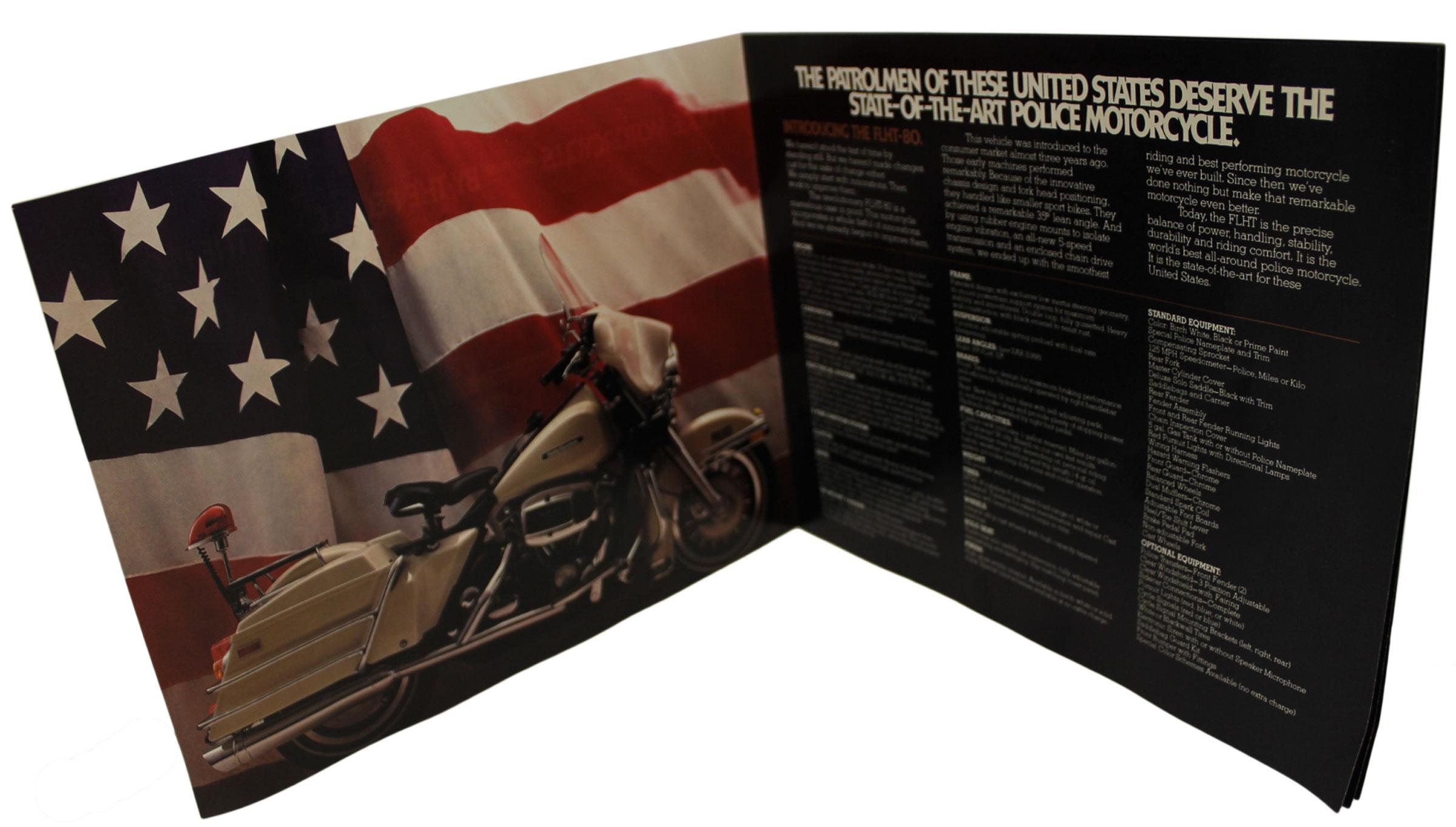 Harley-Davidson Vintage Police Special Brochures, 1982