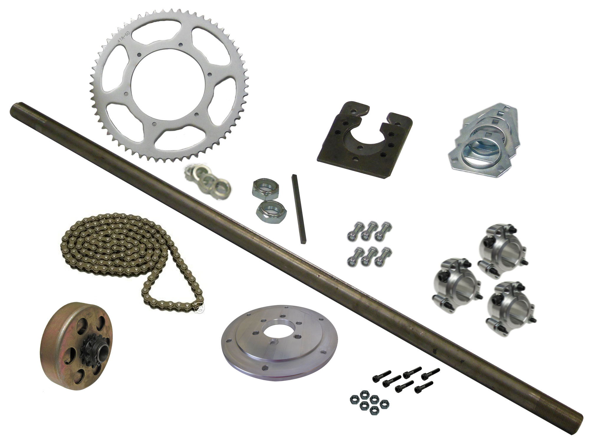 Drift Trike Axle Kit with Clutch (#40 Chain) | 333018_clutch | BMI Karts  And Parts