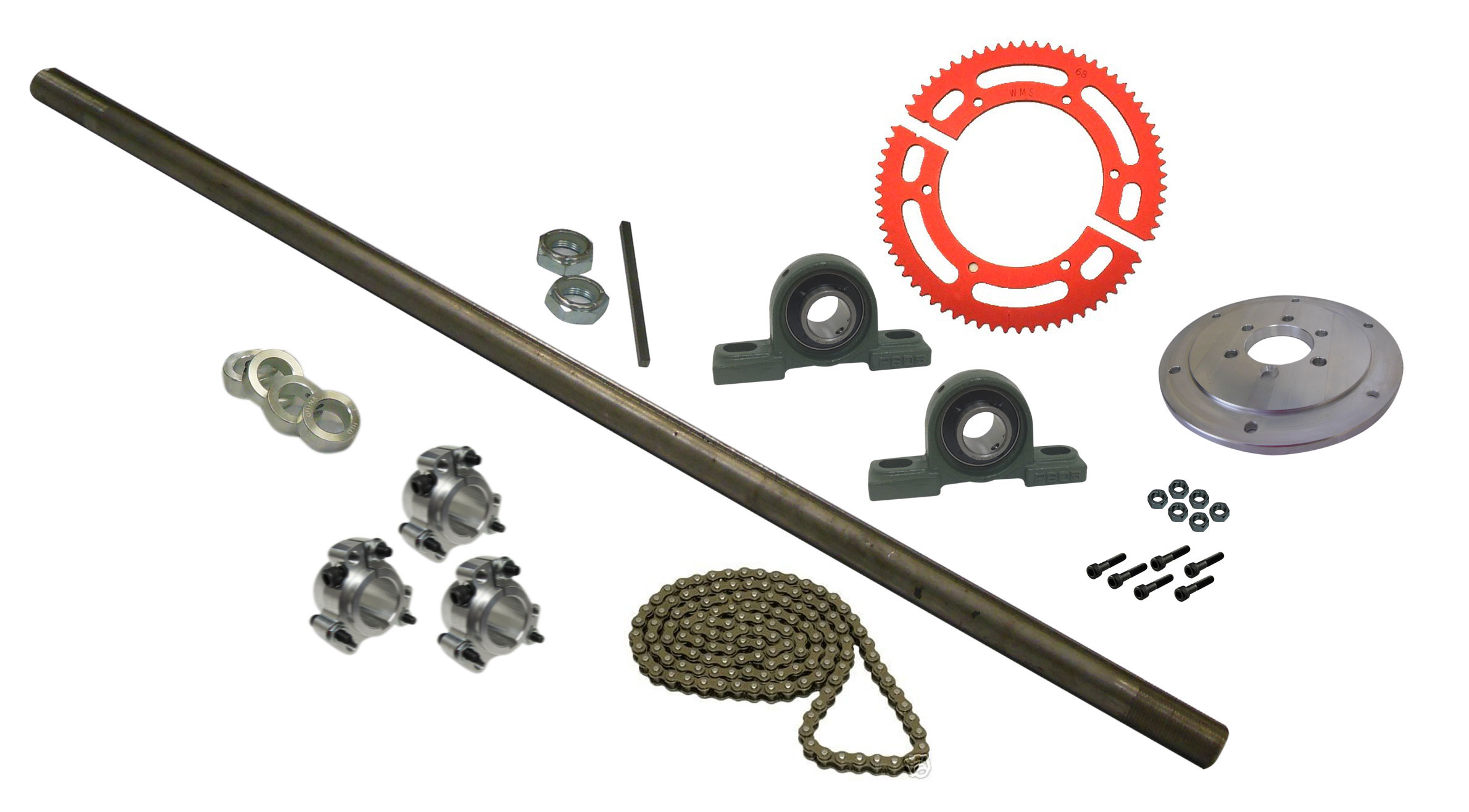 Drift Trike Axle Kit (#35 Chain) with Pillow Block Bearings | 333038_PB-36  | BMI Karts And Parts