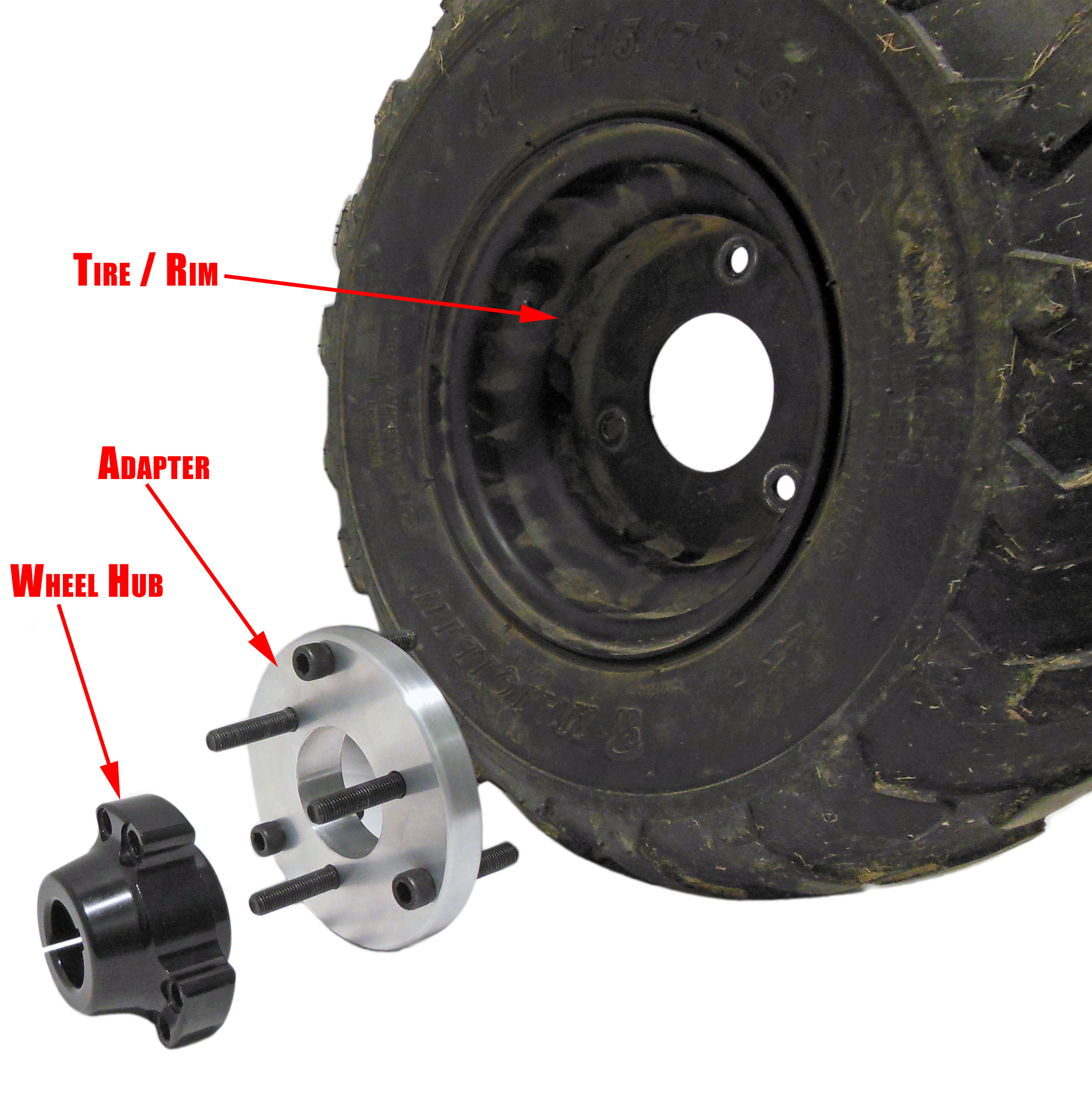 Conversion Wheel Hub Adapter for 3 Bolt Chinese Rims Allows wheels to be  used on 5/8
