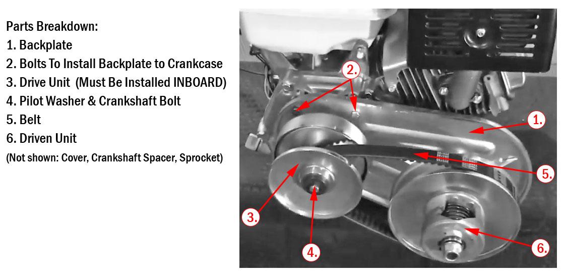 40 Series Torque Converter Kit (8 - 16 HP)