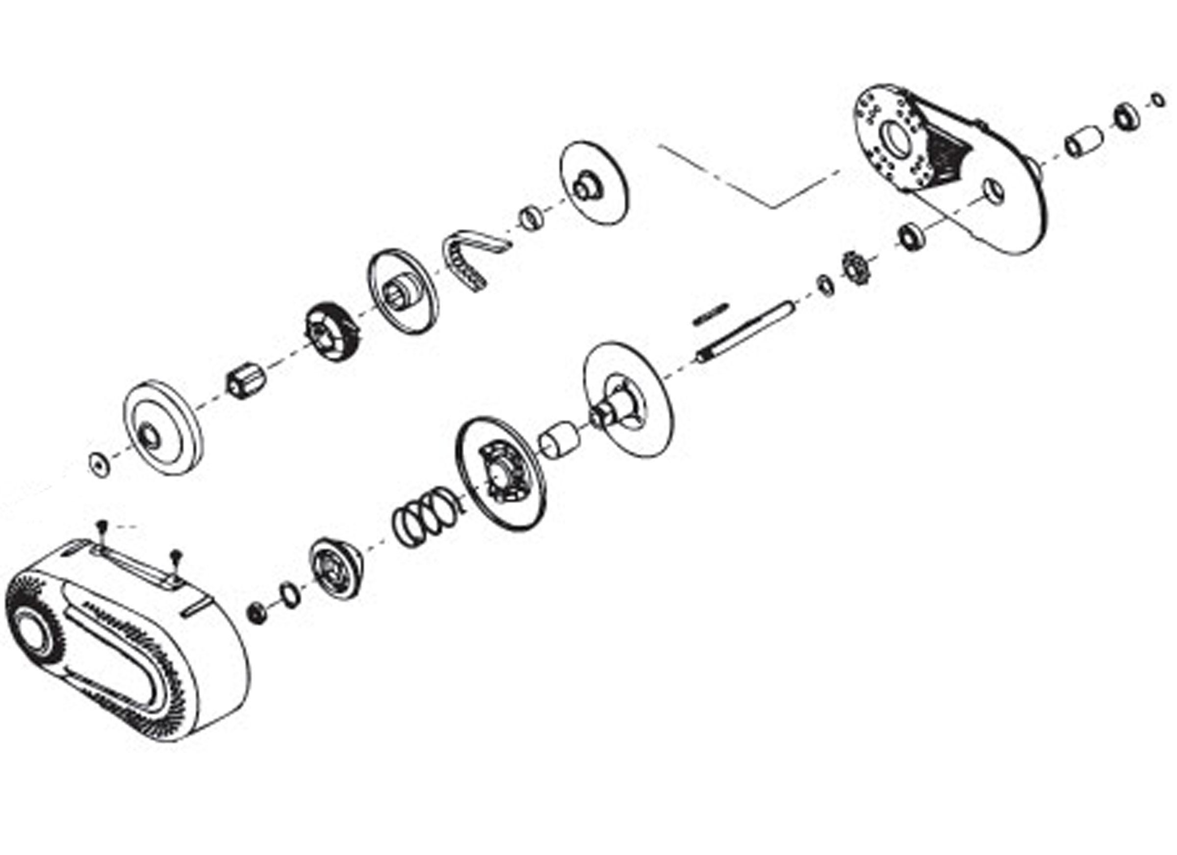 Torque Converter For  35 Chain  1 U0026quot  Bore  Tav2 Replacement