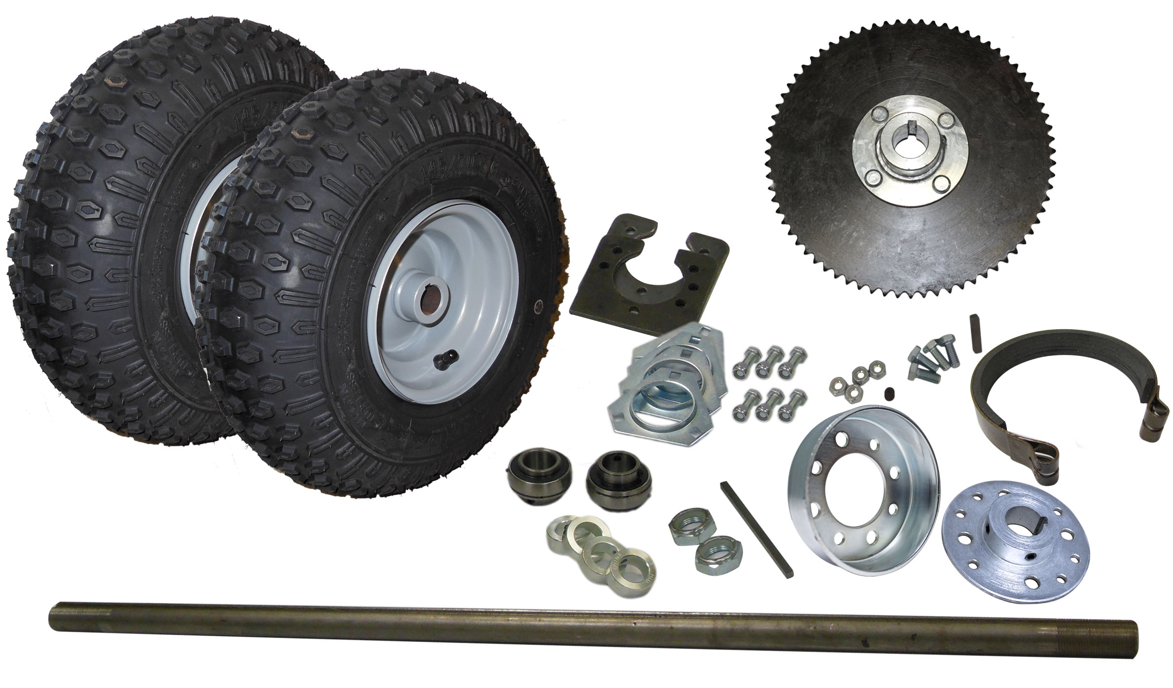 "Set of 2 White 1/"" Rear Axle Wheel Hubs Go Kart Off Road Cart Drift Trike Parts"