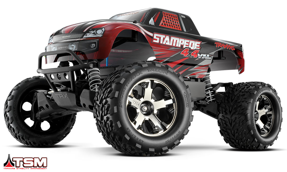 Stampede 1:10 4WD Brushless Monster Truck - Red