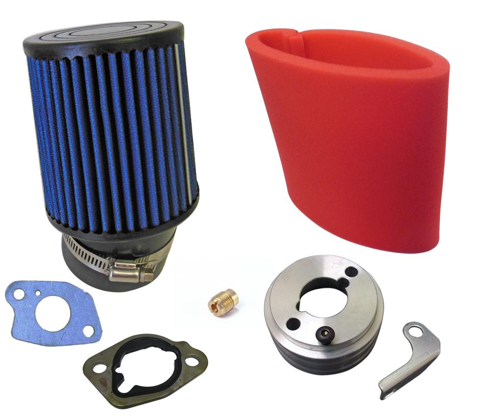 Air Filter, Adapter & Upgrade Jet for 6 5 HP (196cc & 212cc) |  71SBK102_600821_600823 | BMI Karts And Parts