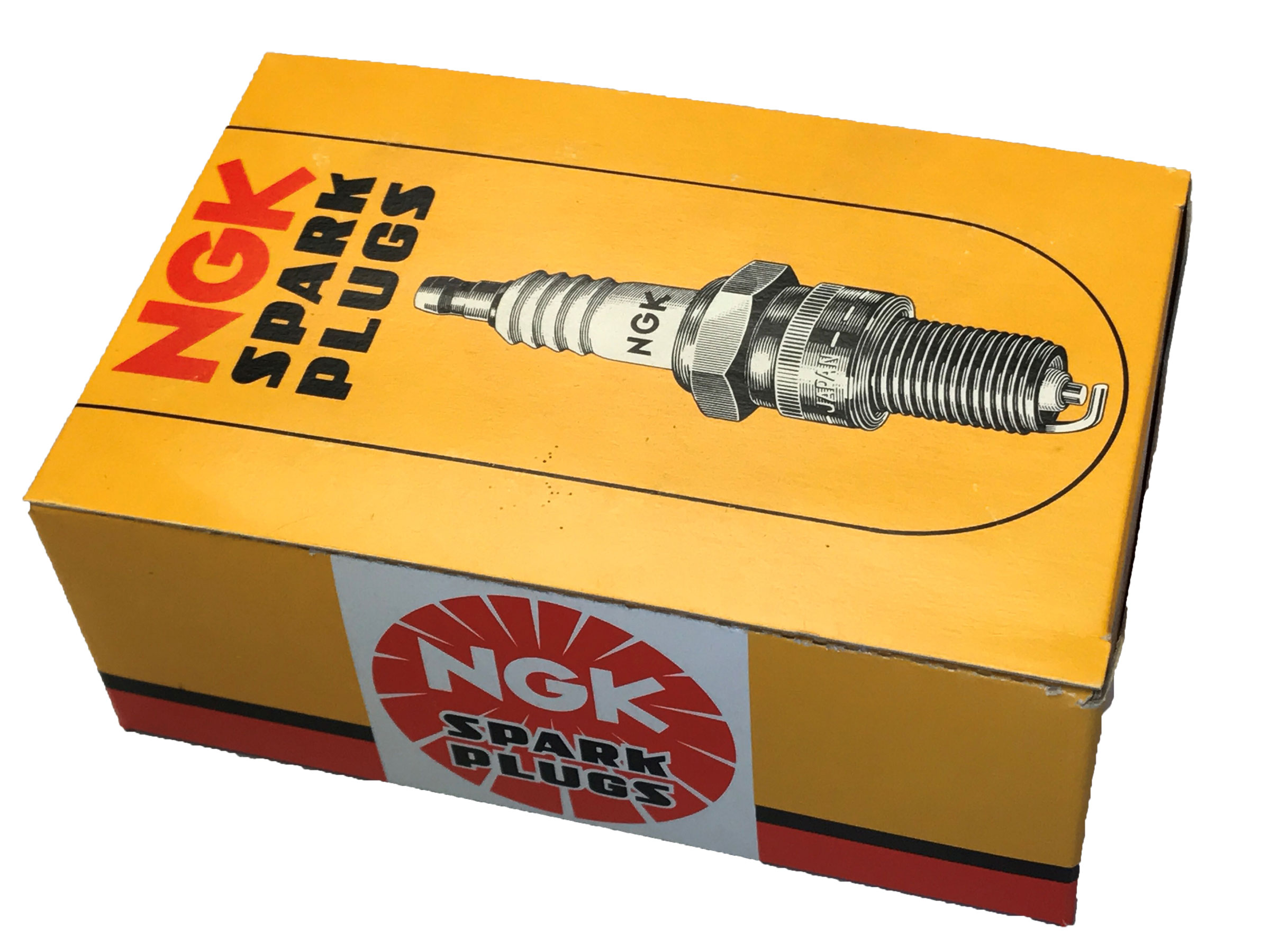 NGK Spark Plugs (B9HS) For Motorcycle - Vintage Box of 10